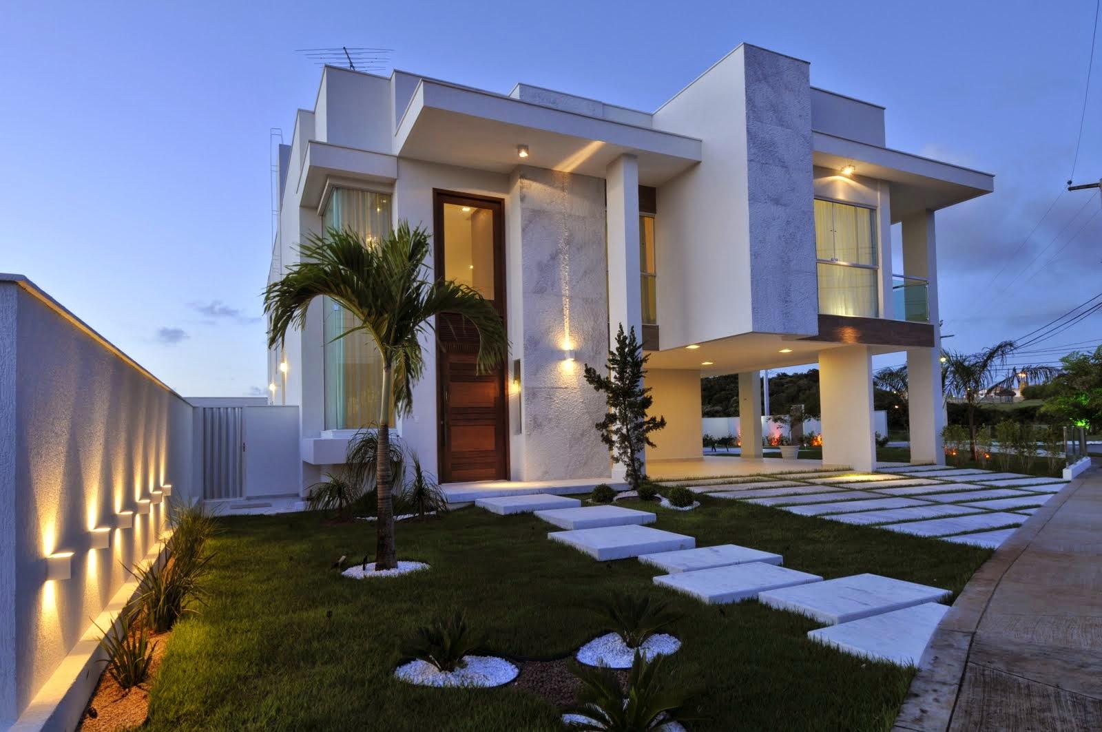 Fachadas modernas linhas retas e simplicidade celina for Fachadas de casas interiores