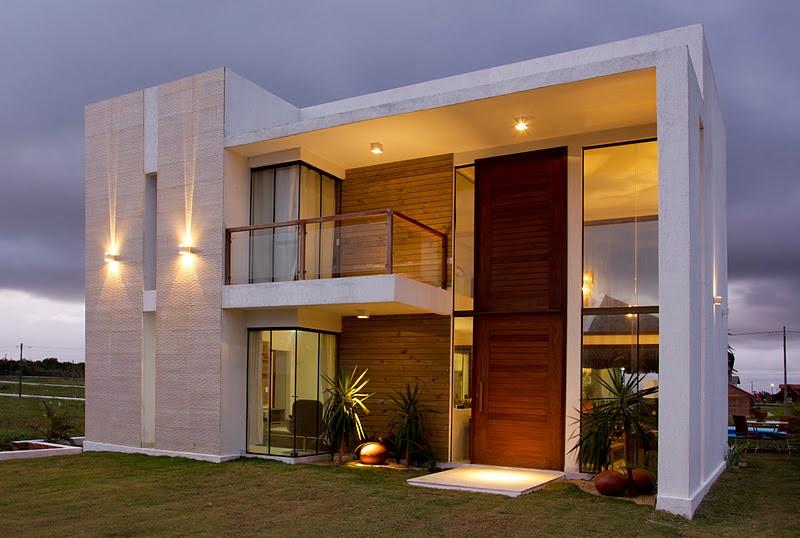 Fachadas modernas linhas retas e simplicidade celina for Diseno de casas pequenas exteriores