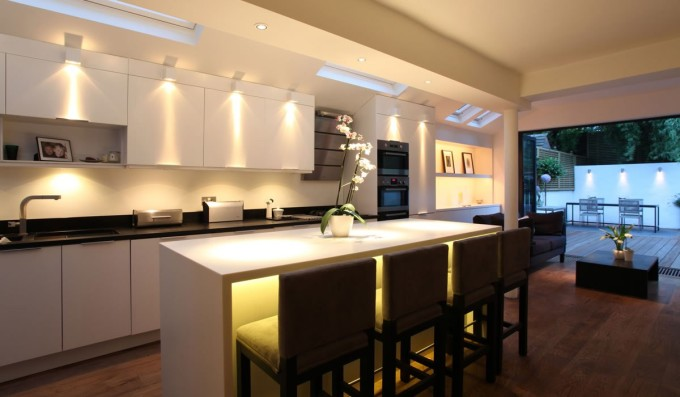 terrific-kitchen-lighting-ideas-images-with-vaulted-kitchen-ceiling-designs-and-over-sink-dish-drainer-also-home-depot-backsplash-stone